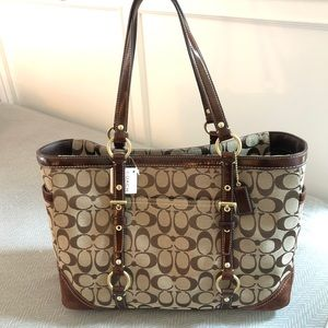 Coach Large Signature Gallery Tote